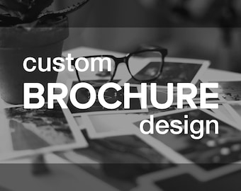 Custom BROCHURE Design | Bifold Trifold Z-Fold Personalized Graphic Design | Any Dimensions Needed | Marketing Advertising Announcement