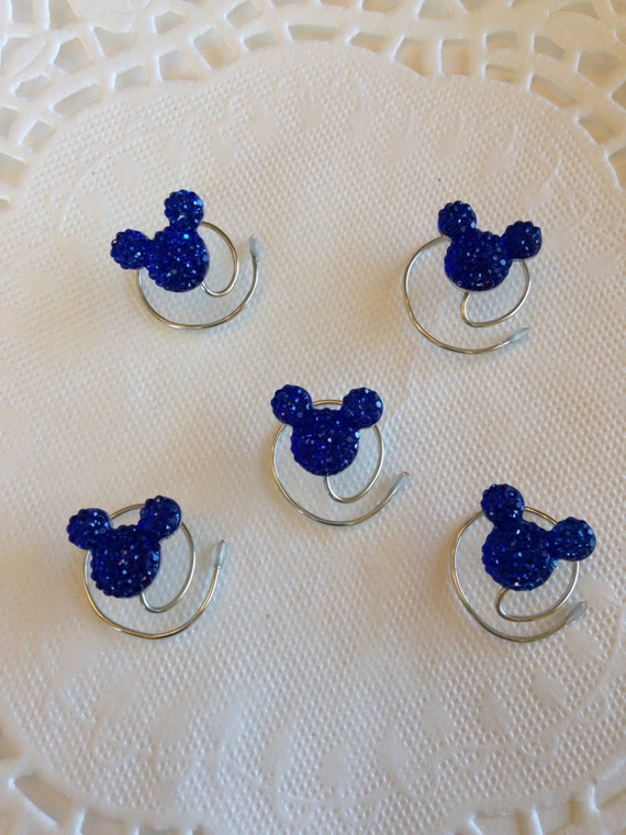 Disney Inspired Hair Swirls-Mickey Mouse-Royal Blue Acrylic
