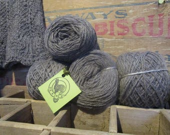 Sport Weight Grey Alpaca Yarn