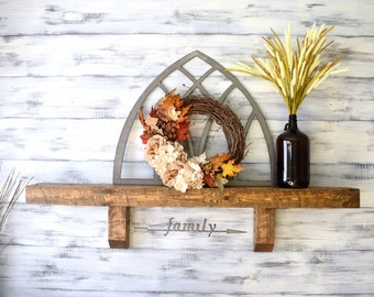 Fireplace Mantel, Mantel Shelf, Beam Mantel, Distressed Wood, Rustic Home Decor, Wood Shelves, Corbel Shelf, Wall Shelf, Wood Shelf, Mantle