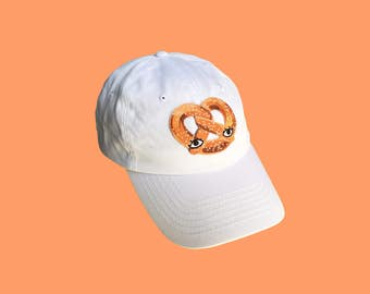 Pretzel Patch Baseball Cap Dad Hat - One Size Fits All Adjustable Street Food Hat