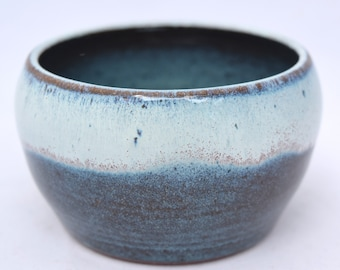 Small Bowl in Teal and Cream - Ceramic Stoneware Pottery