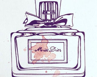 Miss Dior watercolour painting