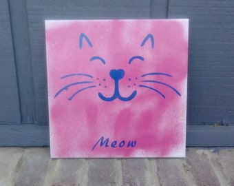 A Cat's Meow Canvas Painting