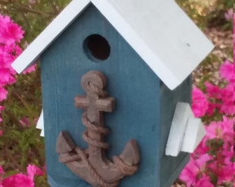 birdhouse outdoor, outdoor Gifts for Dad, country garden birdhouse, nautical birdhouse, beach birdhouse, outdoor birdhouse, birdhouse