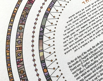 Contemporary Modern Ketubah - Abstract #3