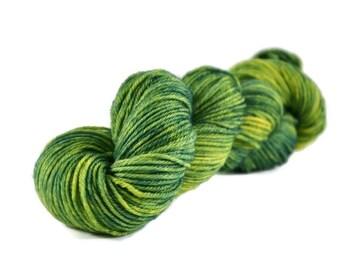 Worsted Yarn, Superwash Merino yarn, worsted weight yarn, worsted wool yarn, 100% Superwash Merino, green, yellow - Summer