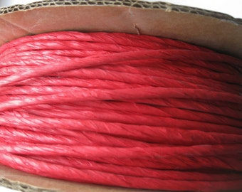 10 Yards of Red Twisted Paper Cord/Ribbon