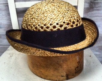 Straw Bowler Hat - Made to Measure