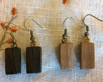 Handmade Wooden Earrings (varying shapes and sizes)