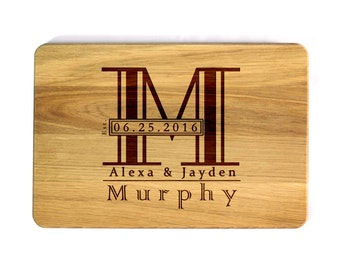 Cutting board Wedding gift Wedding Monogram Personalized Cutting Board Custom cutting board Wedding Gift Kitchen decor Gift for couple