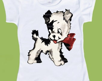 Vintage Dog shirt, Retro Happy Puppy, One Piece Baby, Infant T-Shirt , Toddler Tees, Baby Tank by ChiTownBoutique.etsy