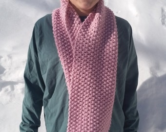 Blossom Pink Chunky Infinity Scarf