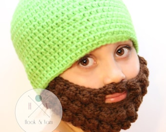 NEWBORN SIZE  Beard Hat, Baby Boy Beard, Mens Beard Hat, Custom Beard Crochet Hat, Crochet Beard, Bearded Hat
