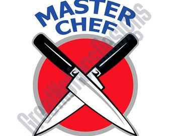 Master Chef SVG - HTV - Vinyl Cutting Graphic Art