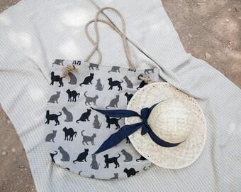 Beach bag. Summer vacation bag.
