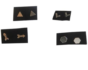 Geometric Stud Earrings; Earring Set; Stud Earring Set; Mix and Match Earrings; Mix and Match Jewelry, jewelry Set; Earring Set