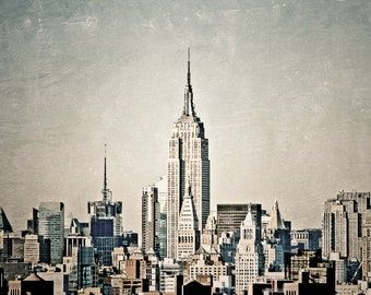 "New York, 8x10 Photography, NYC Skyline, Empire State Building, New York City Art, 8x10 Travel Print, New York Decor ""High in the Sky"""