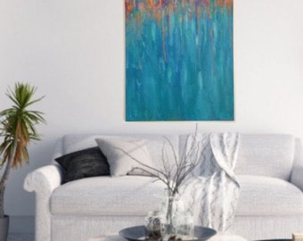 Original painting / abstract art / colourful art / 60x90cm stretched canvas