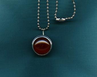 Vintage Dark Amber Lens Pendant