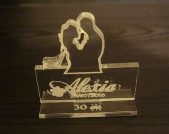 Wedding label place 2014 with engraving custom name of your guests
