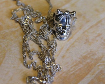 Sterling Silver Candy Skull Necklace