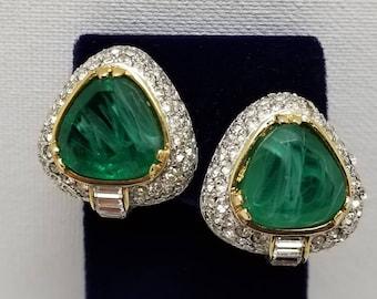Designer Styie Faux Gem Earrings