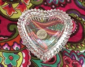 Cristal d'Arques Heart shaped jewelry box