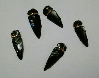 DISCOUNTED!! Genuine Gold Obsidian Arrowheads