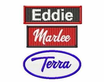 Embroidered Custom Name Tag