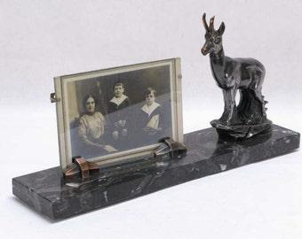 Art Deco Picture Frame, Art Deco Photograph Frame, Photograph Frame, Animal Photograph Frame, Table Photo Frame,  Marble Photo Frame, (147)