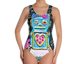 Robot Girl One-Piece Swimsuit
