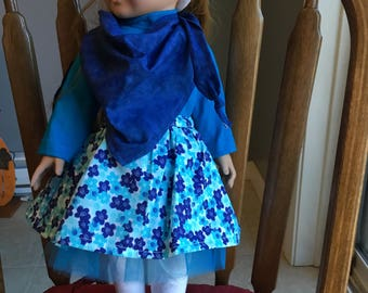 """Fun outfit fits 18"""" dolls such as American girl"""
