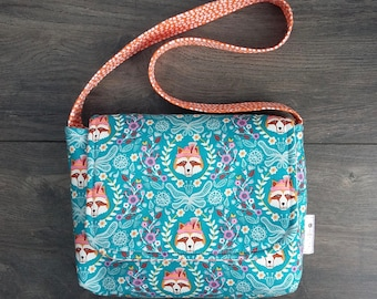 Foxes and Flowers Mini Messenger Bag