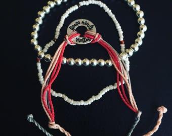 Your Words Matter Layering SLP bracelets