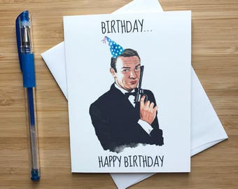 Male Birthday Cards Funny ~ Funny bruce willis birthday card s action movies pop
