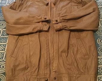 Vintage Grey Gray Leather Jacket Medium/Large