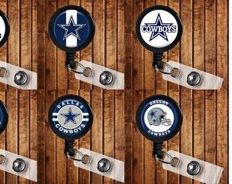 Dallas Cowboys Badge Reel ID Holder NFL