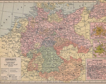 Map atlas france etsy vintage 1935 atlas map of france and germany gumiabroncs Image collections