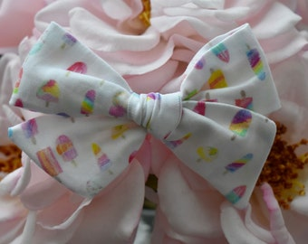Popsicle hand tied bow