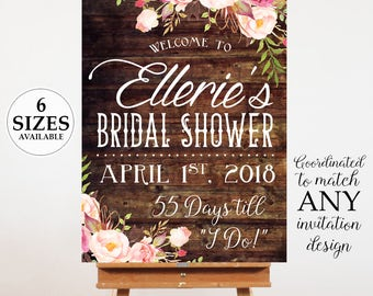 Printable Bridal Shower Welcome Poster, Bridal Shower Sign, Bridal Shower Poster, Welcome Sign,  Digital Door Sign, Bridal Shower Decor