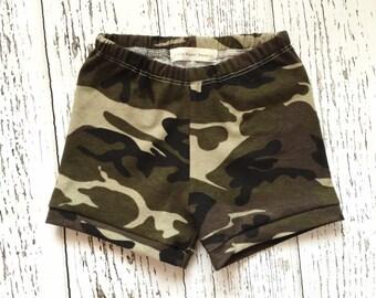 Camo baby shorts, camo toddler shorts, baby shorts, toddler shorts, camo baby clothes, camo baby outfit, camo baby girl clothes