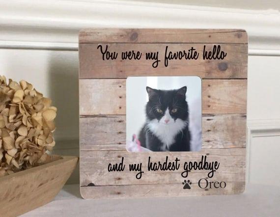 ON SALE Pet Loss Memorial Dog Loss Cat Loss Frame Dog Sympathy Cat ...