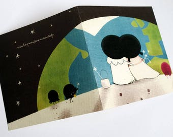 Card, Pierrot and Pierrette C082