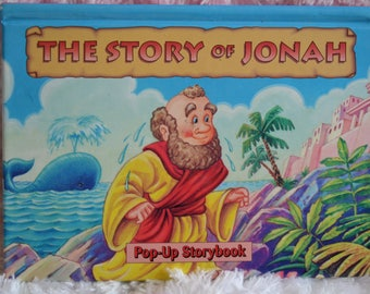Vintage 90s The Story of Jonah Pop Up Storybook Hard Cover Childrens Book Landolls