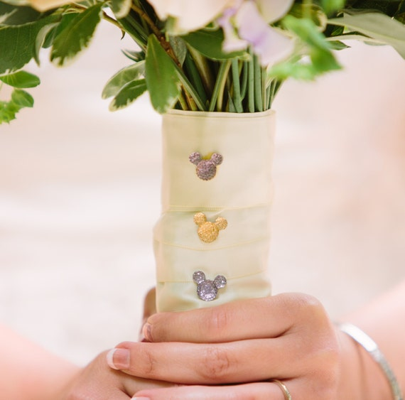 Disney Wedding FREE SHIP 6 Hidden Mouse Ears in your Bouquets Floral Pins Original Creator of Mickey Flower Picks