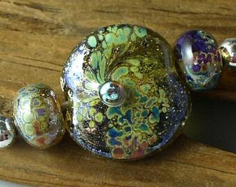 Lampwork beads/SRA lampwork/beads/glass beads/silver/ focal/