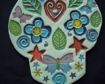 PIPPA - Intricate SUGAR SKULL - Ceramic Mosaic Tiles