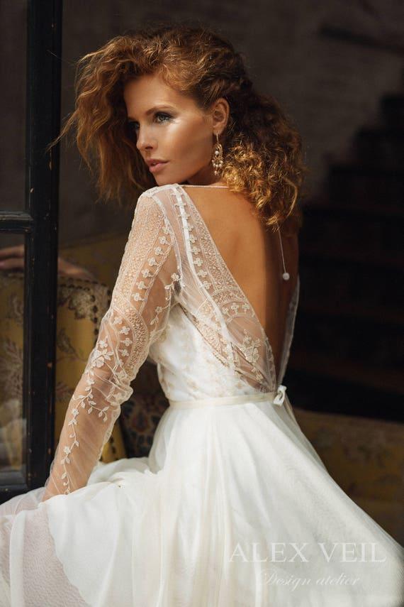 Wedding dress \'ELISE\' // short wedding dress