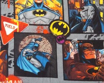 Batman super hero flannel fabric